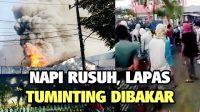 Kerusuhan Di Dalam Lapas, Gedung Dibakar, Kaca-kaca Hancur
