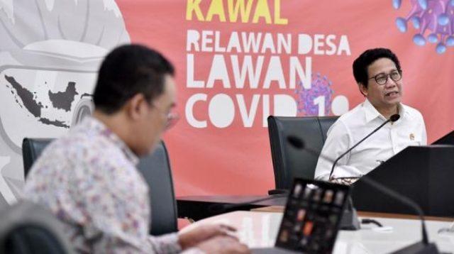 Mendes PDTT Abdul Halim Iskandar beri keterangan pers perkembangan penyaluran BLT Dana Desa (Wening/Humas Kemendes)