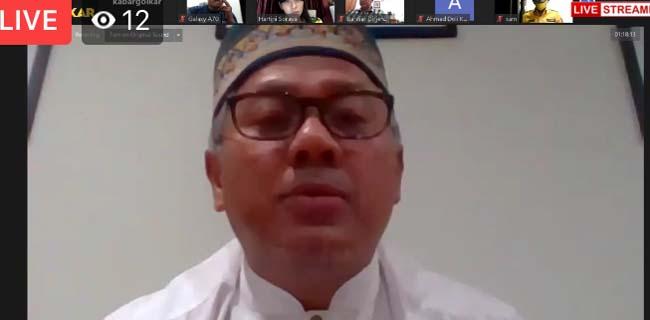 Ketua KPU RI, Arief Budiman saat jadi narsum di acara BSN Golkar/Repro