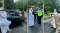 Pria Bergamis Terlibat Cekcok Dengan Petugas PSBB, Ini Penjelasan Polda Jatim