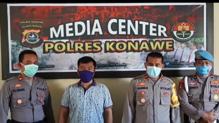 Viral, Polisi Tidak Pakai Masker Lawan Petugas Gugus Tugas Covid-19 Di Sultra