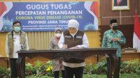 Menuju Surabaya Raya Masa Transisi New Normal, 3 Kepala Daerah Tandatangani Kometmen Bersama