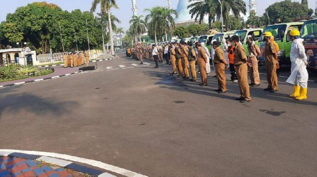 Apel Persiapan New Normal, Walkot Tangerang Minta Satpol PP Gencar Razia (Foto: Jehan/detikcom)