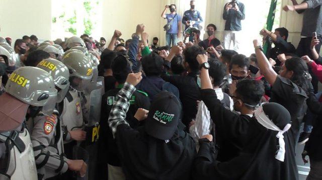 Tegas, Kapolres Gorontalo Pastikan Usut Tuntas Dugaan Pemukulan Korlap Demo Mahasiswa
