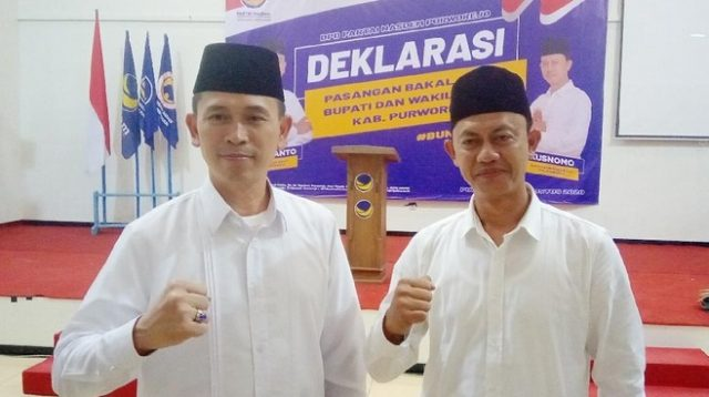 Usung Non Kader, NasDem Rekomendasi Pasangan TNI-Polri Aktif di Pilkada Purworejo, Ini Alasannya