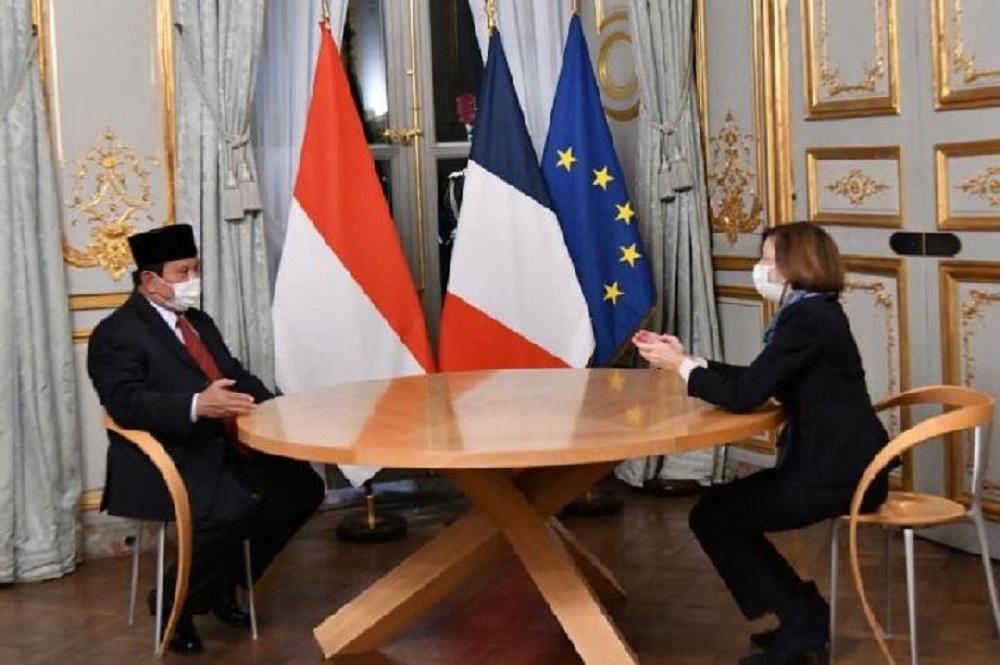Menhan RI Gelar Pertemuan Dengan Menhan Prancis, Bahas Penguatan Alutsista TNI