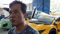 AJAIB! Pria Asal Gunungkidul Ini Belajar Otodidak dan Menjadikan Mobil Sedan Lamanya Menjadi Mobil Lamborgini Mewah