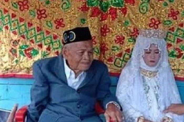 Nikahi Gadis Yang Lebih Muda 73 Tahun, Seorang Kakek Berseloroh Dapat Perhatian Penuh