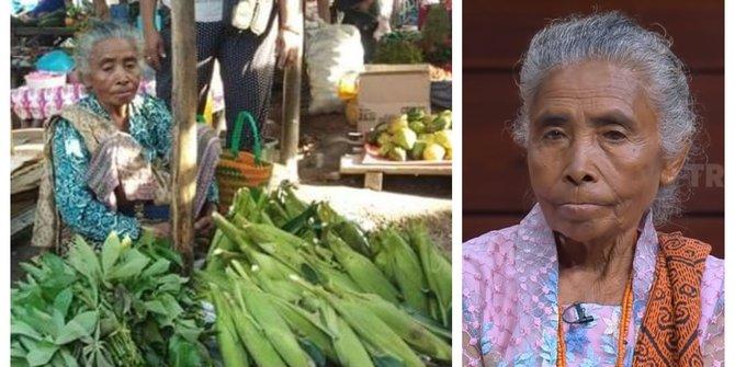 Potret Ibu Hebat, Meski Punya Anak Jadi Bupati 2 Periode, Ibu Ini Tetap Tinggal di Kampung Jual sayur dan Tidak Mau Hidup Mewah