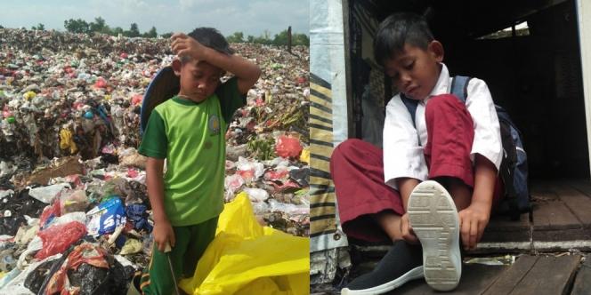 Pulang Sekolah Langsung Mulung, Bocah 8 Tahun Kadang Ambil Makanan Sisa Dari Tempat Sampah Untuk Buka Puasa Dan Sahur
