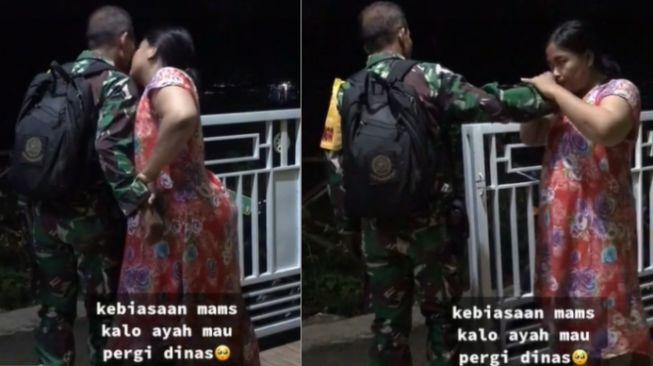 Viral Prajurit TNI Pamit Dinas ke Anak Istri, Harus Siap Resiko Apapun