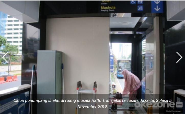 Anies Bangun Musala di Halte Transjakarta, Warganet: Makin Berkah Jakarta