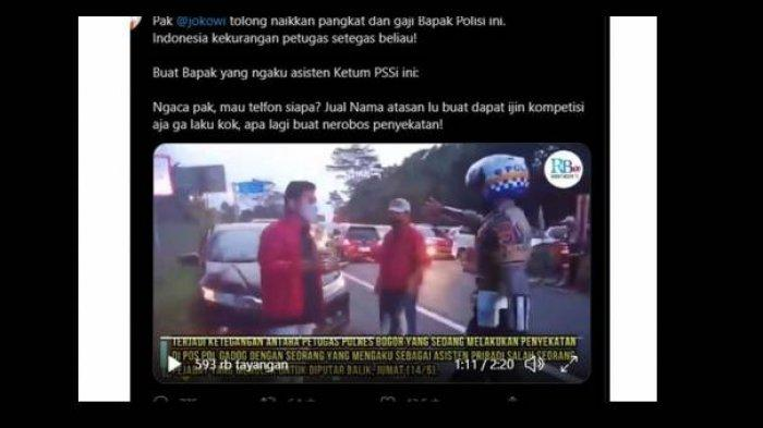 Staf PSSI Gadungan Tolak Putar Balik Saat Penyekatan, Ternyata...