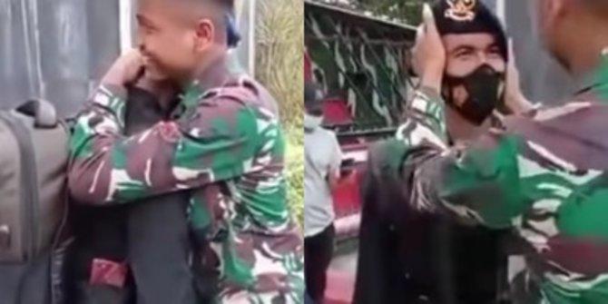 Seorang TNI Tampar Adik dengan Keras karena Bangga Jadi Brimob