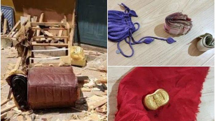 Rejeki Nomplok, Pria Ini Temukan Segepok Uang dan Emas Dalam Sofa yang Dipungutnya di Jalan