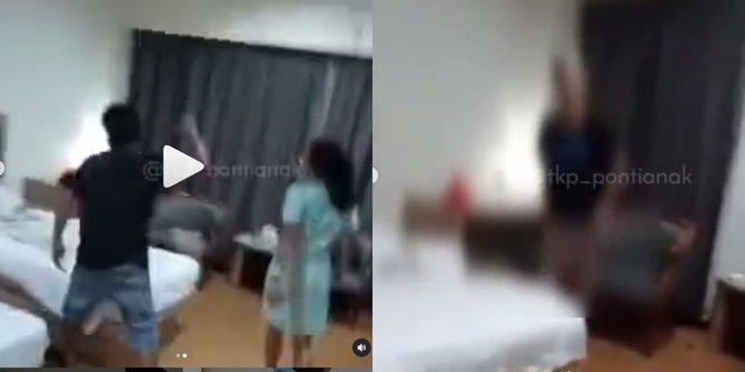 Viral Istri Naik Pitam Lihat Suami Tanpa Celana dengan Pelakor di Kamar Hotel