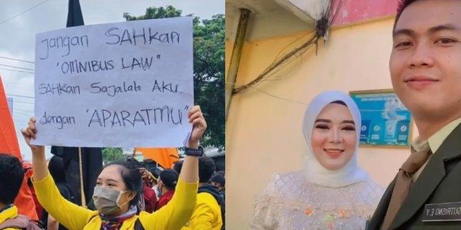 Kocak, Tuliskan Permintaan Saat Demo, Akhirnya Dinikahi Anggota TNI