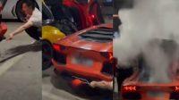 Gaya-gayaan Bakar Sate dari Knalpot Lamborghini, Hasilnya Harus Rogoh Kocek Miliaran Rupiah