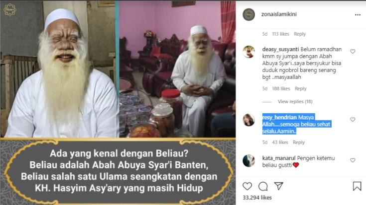 Berusia 154 Tahun dan Masih Sehat, Ulama Banten Seangkatan Kiai Hasyim Asy'ari Hebohkan Warganet