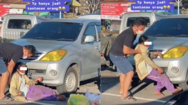 Viral Orang-Orang Hanya Liatin Ibu yang Tergeletak Lemas di Tengah Jalan