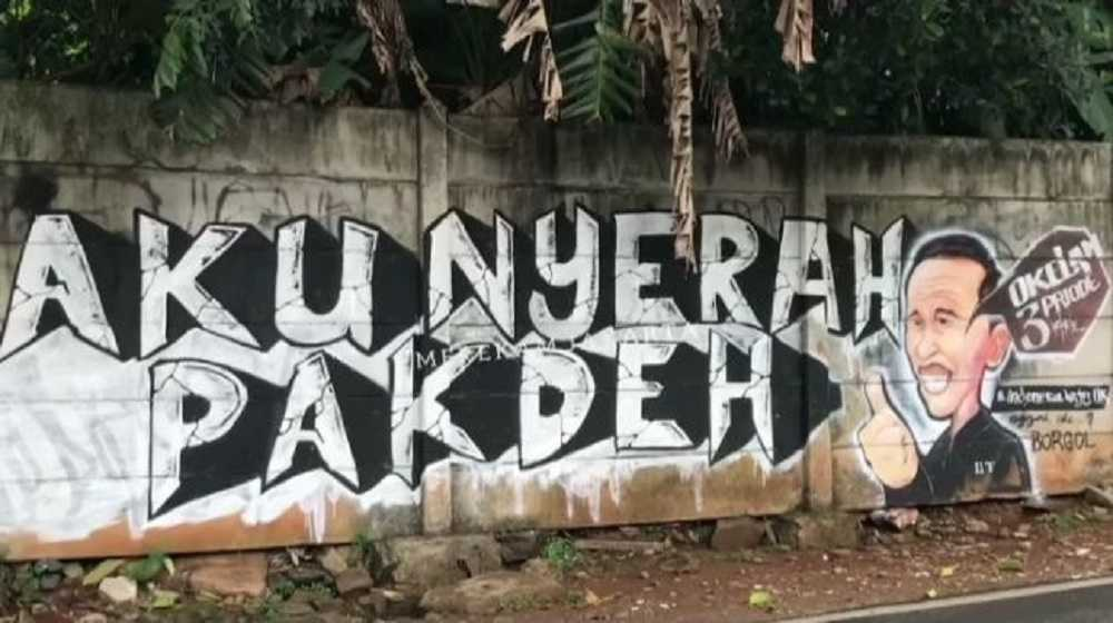 Mural Mirip Jokowi Hiasi Tembok di Kebagusan, Tak Lama Langsung Dihapus