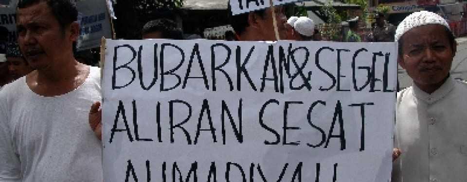 Demonstrasi pembubaran Ahmadiyah